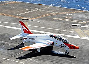 Posterazzi GLP469052LARGE Poster Print Collection A T-45C Goshawk Lands On The Flight Deck Of Uses Ronald Reagan Poster Print By Stock trek Images, (17 X 11