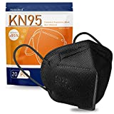 KN95 Face Mask 20 Pcs, Cup Dust Mask Against PM2.5, Dust, Air Pollution, Breathable Masks for Adult, Men, Women, Indoor, Outdoor Use