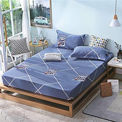 huyiming Verwendet für bedrucktes Baumwolltwill-Blattmaterial 1,8 m Bettdecke Simmons-Matratze, rutschfeste Schutzhülle 180 * 200 cm