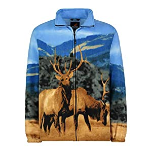 Men's Women's Sweater Jacket Full Zip Fleece Animal Wildlife Sweatshirt Wildkind