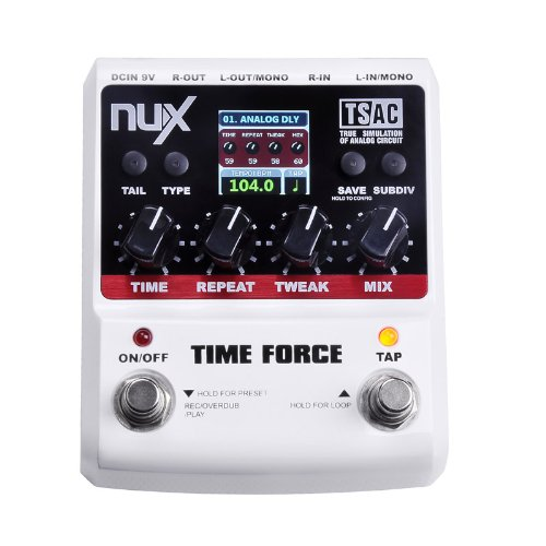 ammoon NUX Time Force Pedal Chitarra Effetti Multi Digital Delay 11 Effetti Delay