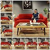 My Palace Aurora Sesselschoner 1 Sitzer Stretch und antirutsch Sesselhusse Fernsehsessel Bezug elastischer Sesselüberwurf mit Schaumstoffankern, 70-120cm Anthrazit - 8