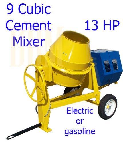 9 CU Cubic Concrete Cement Mixer 13HP Gas Gasoline