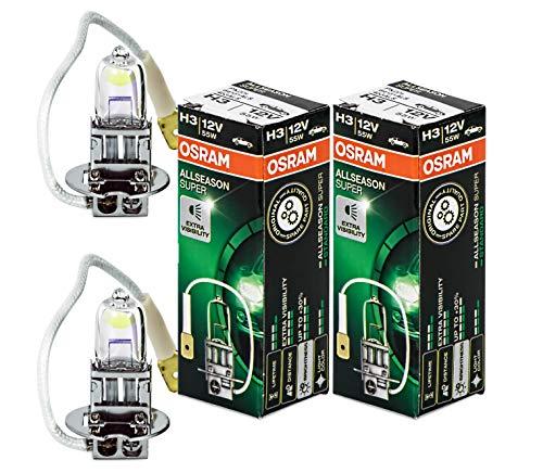 2 x Osram H3 Allseason Super Lampen +30 % mehr Licht 12 Volt 55 Watt 64151ALS lamp bulb