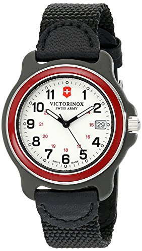 Victorinox Men's 249088 Original Analog Display Swiss Quartz Black Watch