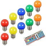 10X E27 Lampadine LED 2W Colore Lampadina Sostituzione 20W Alogena 360 Gradi Angolo a Fasc...
