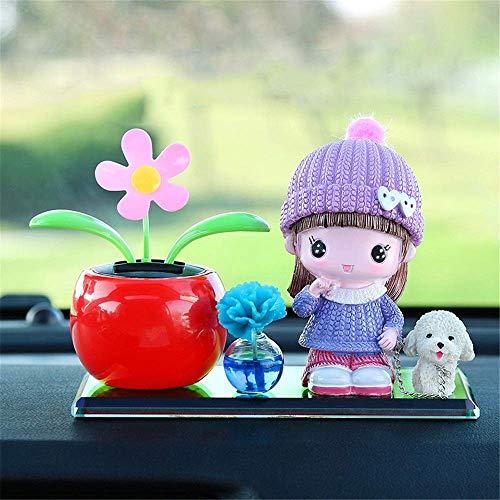 ZFFSC Auto-lucht-Outlet Aromahandgeschilderd hars auto geur luchtverfrisser minibloemen-geur decoratie hond auto etherische oliën geurauto etherische olie diffuser