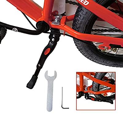 VECKUSON Kickstand for Kids Bike?Bike Bicycle Kickstands Center Mount for 18 20 22 Inch Bicycles Adjustable Aluminum Alloy Kickstands for Mountain Bike Road Bike 18-22 Inch Bicycles for Kids Adult