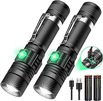 LED Tactical Flashlight Rechargeable  Battery Included  IPX6 Waterproof Flashlight 1200lm Super Bright LED Zoomable Pocket-Size Small LED Flashlight for Hiking Camping Emergency