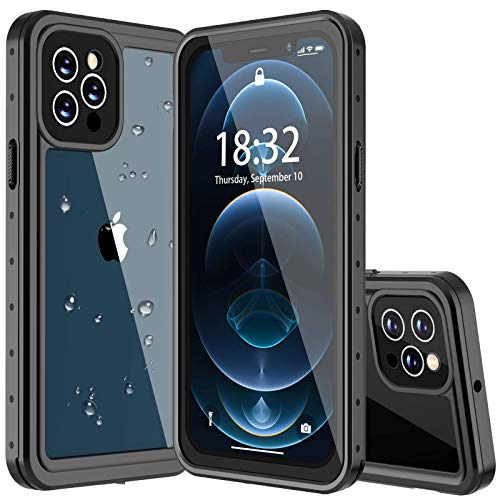 MYJOJO iPhone 7 Waterproof Case iPhone 8 Waterproof Case, 2019 Full Body Protective Shockproof Sandproof Dirtproof IP68 Underwater Outdoor Waterproof Case for iPhone 7 & iPhone 8 (Black/Clear)
