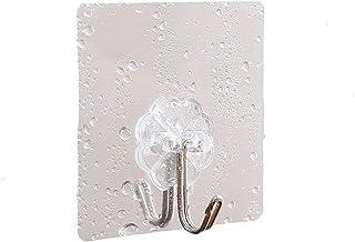 Hook Strong Plak viscose Wall Wall-dragende zuignap Kitchen Hook Naadloze Plakken duurzaam (Color : Silver, Size : 20)
