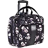 KROSER Rolling Laptop Briefcase Premium Rolling Laptop Bag Fits Up to 15.6 Inch Laptop Water-Repellent Overnight Rolling Computer Bag with RFID Pockets for Travel/Business/School/Women