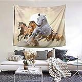 kThrones Tapiz de Pared,Herd of Horses Galloping On The Prairie In The Sunset Tapestry (Colgante de Pared) Decoración de Pared Mural del hogar para Dormitorio Sala de Estar 152cmx130cm