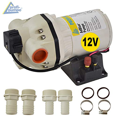 BOMBA Adblue® - BOMBA UREA 12V - BOMBA DE DIAFRAGMA - BOMBA QUIMICA - motor electrico autocebante, bomba adblue con manguera de succión/presión, pistola dispensadora y accesorios