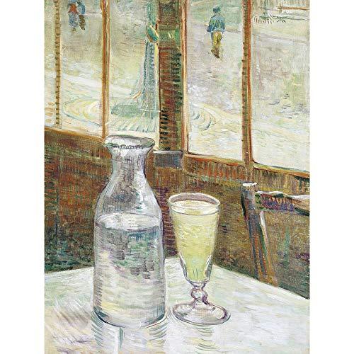 Vincent Van Gogh Cafetafel Met Absint - Póster de pared, diseño de...