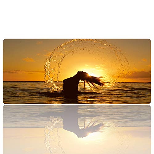 Ruifengsheng Large Gaming Mouse Pad, Natural Rubber Plus Ultra Smooth Surface Gaming Mouse Pad-Water Resistant & Anti-Slip Mice Mat for Gamer, Office, Home (9040 j-052)
