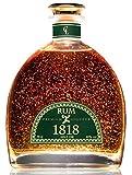 Cadeau Rhum Vieux XO 1818 - Premium Liqueur Feuille d'or 23 Carats - Republique Dominicaine Rum - Traditionnel Ron Anejo Reserva - Bouteille & Certificat d'or 40% 70 cl - Sans Coffret