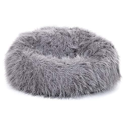 """Icon Klassischer Sitzsack aus mongolischem Kunstpelz """"Yeti"""", Sitzsäcke für das Wohnzimmer, Groß, Stuhl für das Schlafzimmer (Anthrazitgrau)"""
