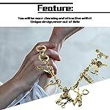 1pcs strass a mano taglio di capelli asciugacapelli forbici pettine braccialetto di fascino stile retrò di alta qualità nuovo trasporto di goccia - bronzo