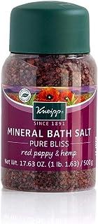 Kneipp Mineral Bath Salt, Pure Bliss, Red Poppy & Hemp, 17.63 fl. oz.