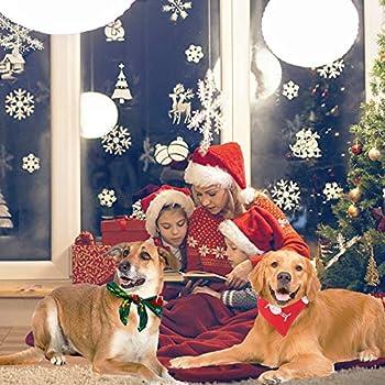 KATELUO Bandanas de Chien de Noël,Bandana Chien Écharpe,Foulard pour Chien,avec Le Motif du père Noël Elk, Convient aux Cadeaux de Noël pour Chats et Chiens, Facile à Plier et à Transporter. (M)