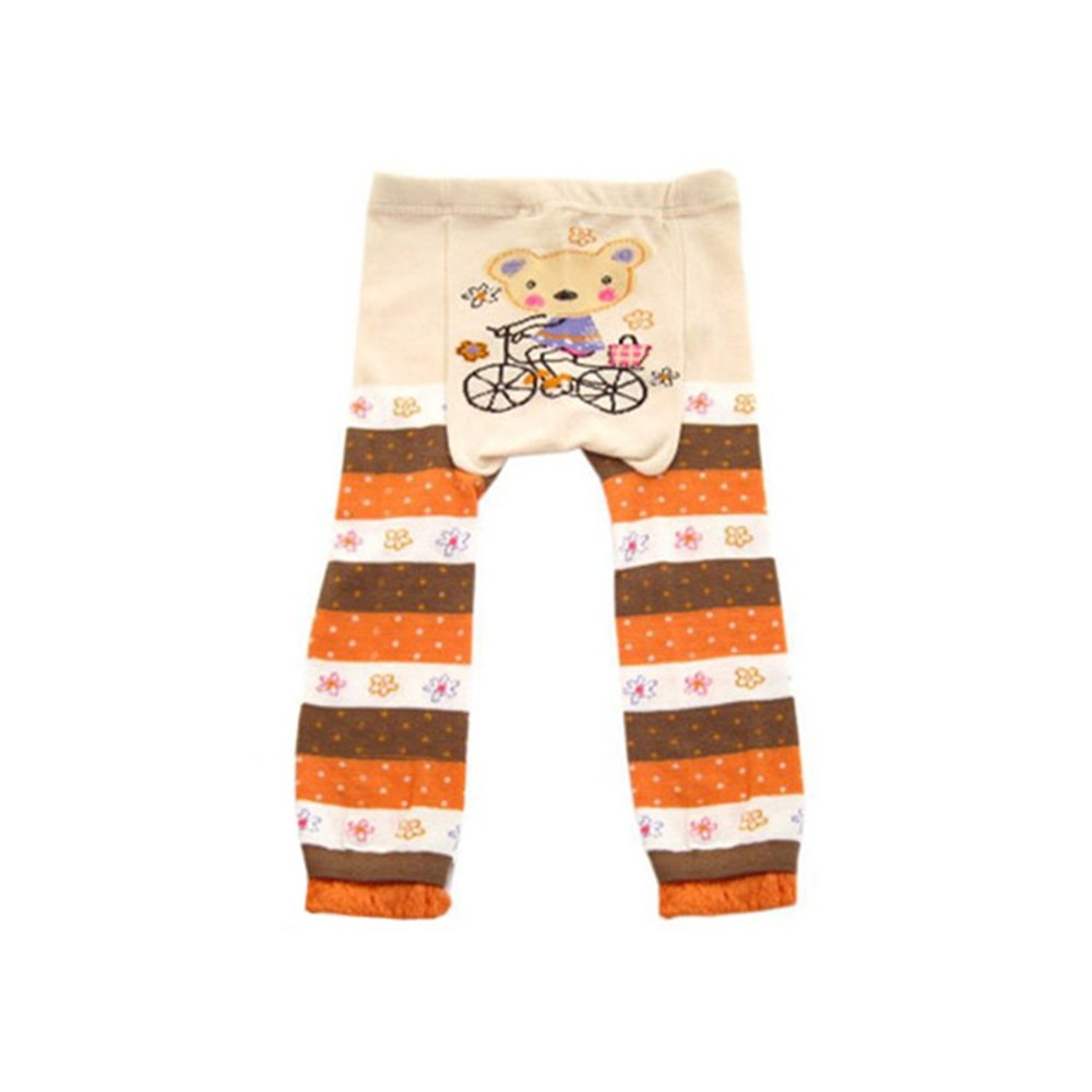 Wrapables Baby Toddler Leggings Bear on 24 a Bicycle - unisex to 12 Challenge the lowest price