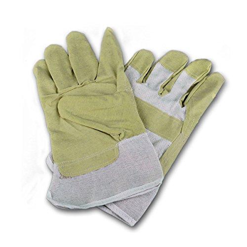 Arbeits-Handschuhe aus Rindspaltleder, weißer Rücken, leicht gefüttert, Größe UNI, Paar
