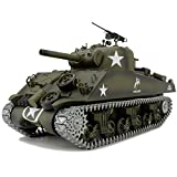 Modified Edition 1/16 2.4ghz Remote Control US M4A3 Sherman Tank Model(360-Degree Rotating Turret)