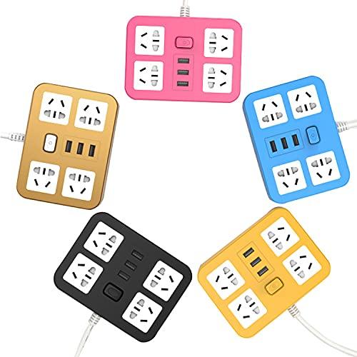 Tira de alimentación multifuncional del zócalo inteligente USB que carga la tira de alimentación porosa del hogar con tira de alimentación del cable