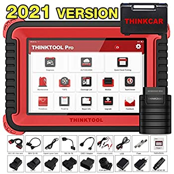 thinkcar THINKTOOL PRO Bi-Directional OBD2 Scanner Full Systems Diagnostic Scan Tool,31+ Reset Functions Key Matching Variant Coding AutoAuth for FCA SGW 2 Years Free Update