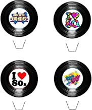 80's (Eighties) Party Vinyl Collection 12 Edible Stand up wafer paper cake toppers - UNCUT (5 - 10 BUSINESS DAYS DELIVERY FROM UK)