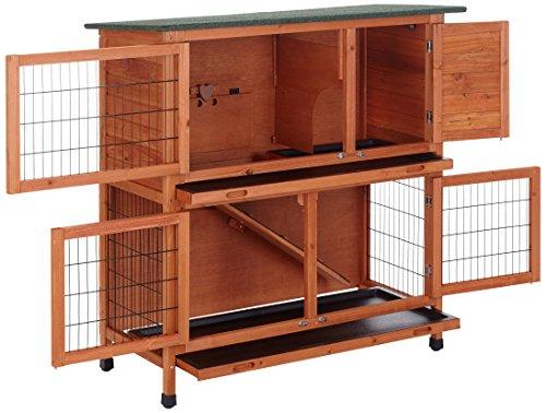 Bunny Business Stall für Kaninchen / Meerschweinchen, 2Ebenen, mit Auslauf - 2