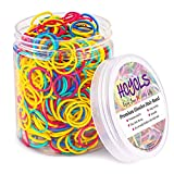"""3/4"""" Inches Colorful Rubber Bands for Hair Ties Reusable Elastics Ponytail Holders for Baby Toddler Girls Infants Kids Thick Hair Mini Braids No Damage Student Office Supplier 600 pcs (M)"""