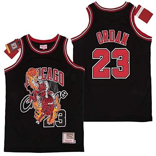 DSASAD Jersey de Baloncesto para niños Adultos, Adecuado para el n. ° 8 Lakers y No. 23 Bulls Deportes Uniformes de Baloncesto, Chalecos de Gimnasia, Absorbente de Sudor y black23-S
