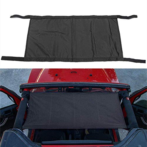 LLSS Roof Tent Car Covers For Jeep Wrangler 1997-2018 Yj/Tj/Jk/Jl Automatic Car Covers Hammock Tent Net Top Roof Storage Car Cover Black