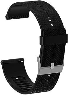 TOOGOO 20mm Silicone Watch Band Bracelet Strap for Polar Ignite Smartwatch Accessories Watch Strap Wristband Black
