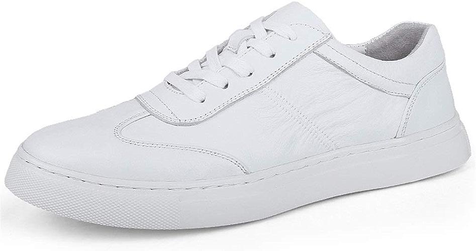 Chaussures de Sport pour Hommes, Chaussures de Sport à Lacets, Style Ox, Cuir, Style décontracté, Texture plissée,Chaussures de Cricket