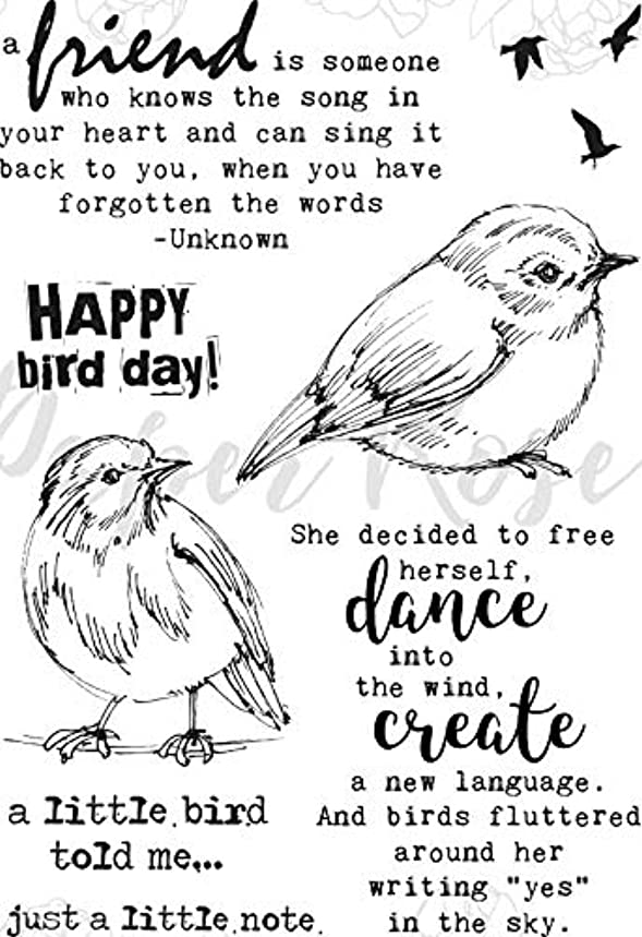 Paper Rose PR17802 Clear Stamps-Bird Day
