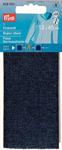 PRYM Flickstoff Jeans Denim 12 x 45 cm dunkelblau zum Bügeln 929 550