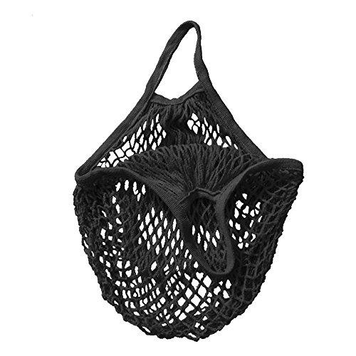 5656YAO Einkaufstaschen, Einkaufsnetz Netze Tasche Kartoffelsack aus Bio-Baumwollschnur, Netztasche Organic Cotton String Einkaufstasche Net Woven Wiederverwendbare Tasche (A)