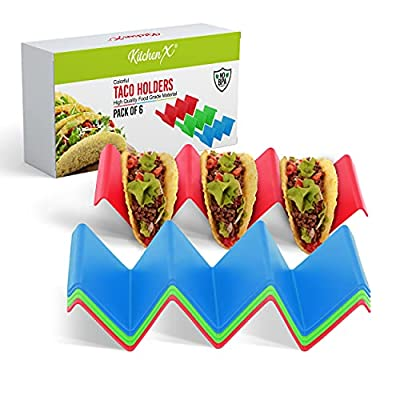 KitchenX Colorful Taco Holder Stand Set of 6 - ...