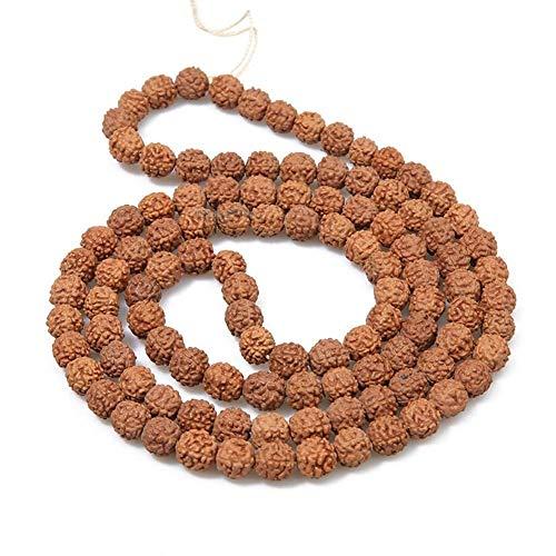 NEWRX La meditación Semillas de Rudraksha Mala Bead Jewelry Making Oración Chakras 108pcs Bodhi Piedra Budismo Tibetano Pulsera Budista (Color : 1, Size : Small)
