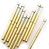 RuiLing 20-Pack P125-A Spring Test Probe Pogo Pin Diameter 2.5mm Thimble Length 33.35mm Gold Plated PCB Testing Pin Spring Contact Probe for Test Tools