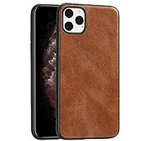 MJYGV電話クリアケース IPhone 11 Proクレイジーホーステクスチャード加工カーフスキンPU + PC + TPUケース (Color : Brown)