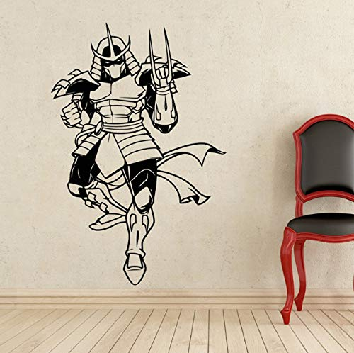 xingzhi Aktenvernichter Wandtattoo Schildkröten Ninja Superheld Vinyl Aufkleber Wanddekor Abnehmbare wasserdichte Aufkleber 54 * 80 cm