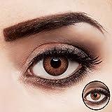 aricona Kontaktlinsen - Lentes de contacto de color marrón sin dioptrías, Lentes de color marrón natural premium, 2 piezas, Sienna Brown
