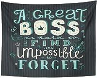 矢印のレタリング偉大な上司は見つけるのが難しく、日を忘れることは不可能です芸術的なお祝いのタペストリー壁掛け生活150x200cm