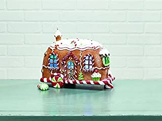 Lighted Glittered Christmas Gingerbread Camper - Tabletop Holiday Decoration