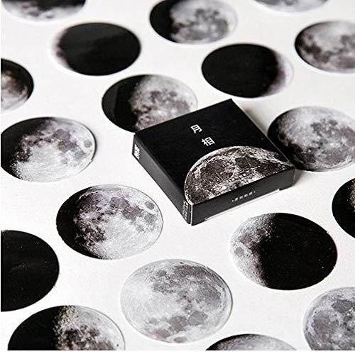 45 PC/Kasten Mond-Art-Mini Papier Dekoration DIY Scrapbook Notebook Album-Siegel-Aufkleber Briefpapier Kawaii Büro Schulbedarf