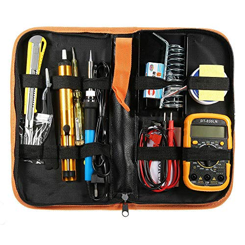 Great Features Of 110V 60W Soldering Iron Kit Adjustable Temperature Electrical, Compatible With Wel...